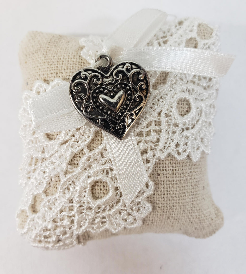 Scented Country Sachet with Heart Charm