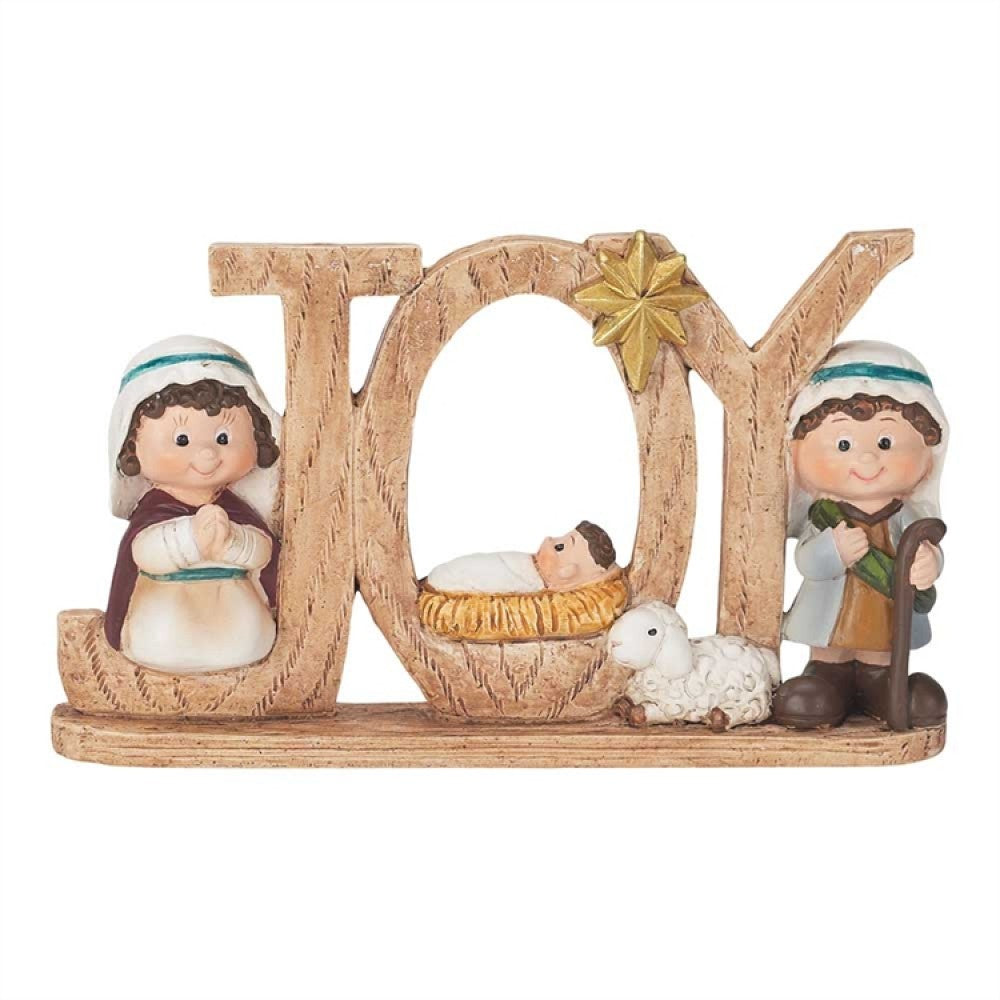 "5.5"" 'Joy' Holy Family Figurine"