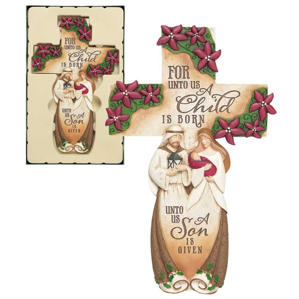 "11"" Holy Family Wall Cross"
