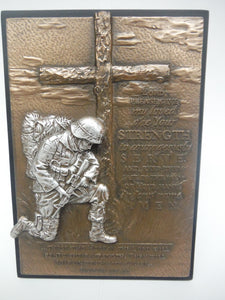 Soldier Prayer Bronze Plaque