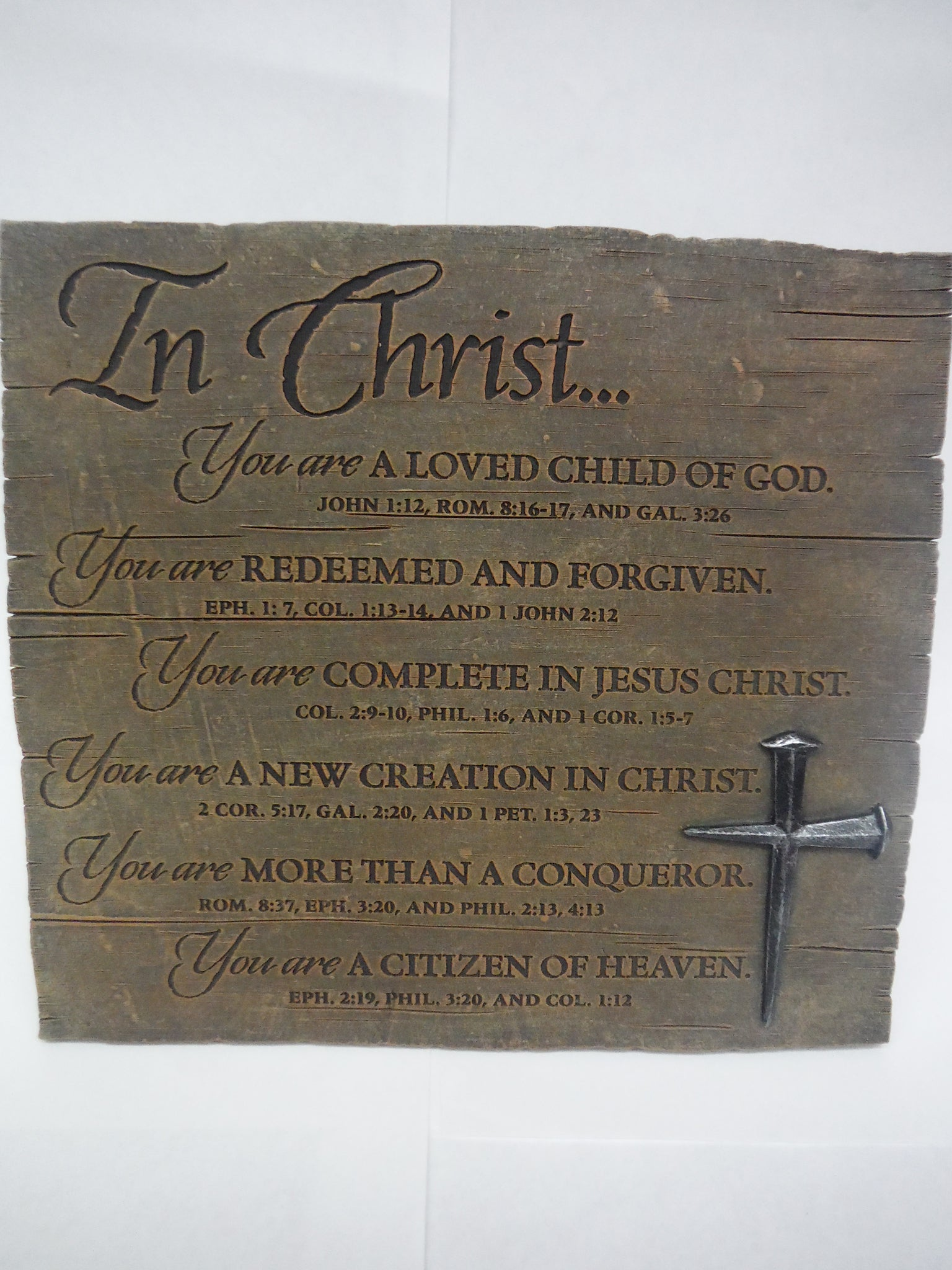 """In Christ"" Bronze Plaque"