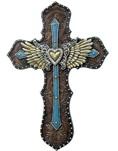 Blue Layered Wings Cross