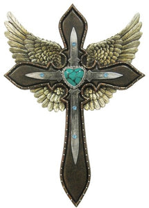 Wings Heart Cross