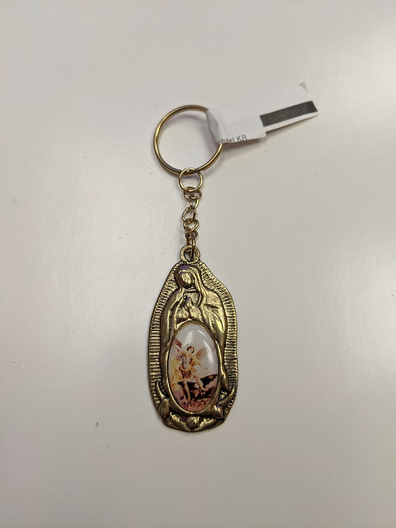 Our Lady of Guadalupe with Saint Michael KeyChain