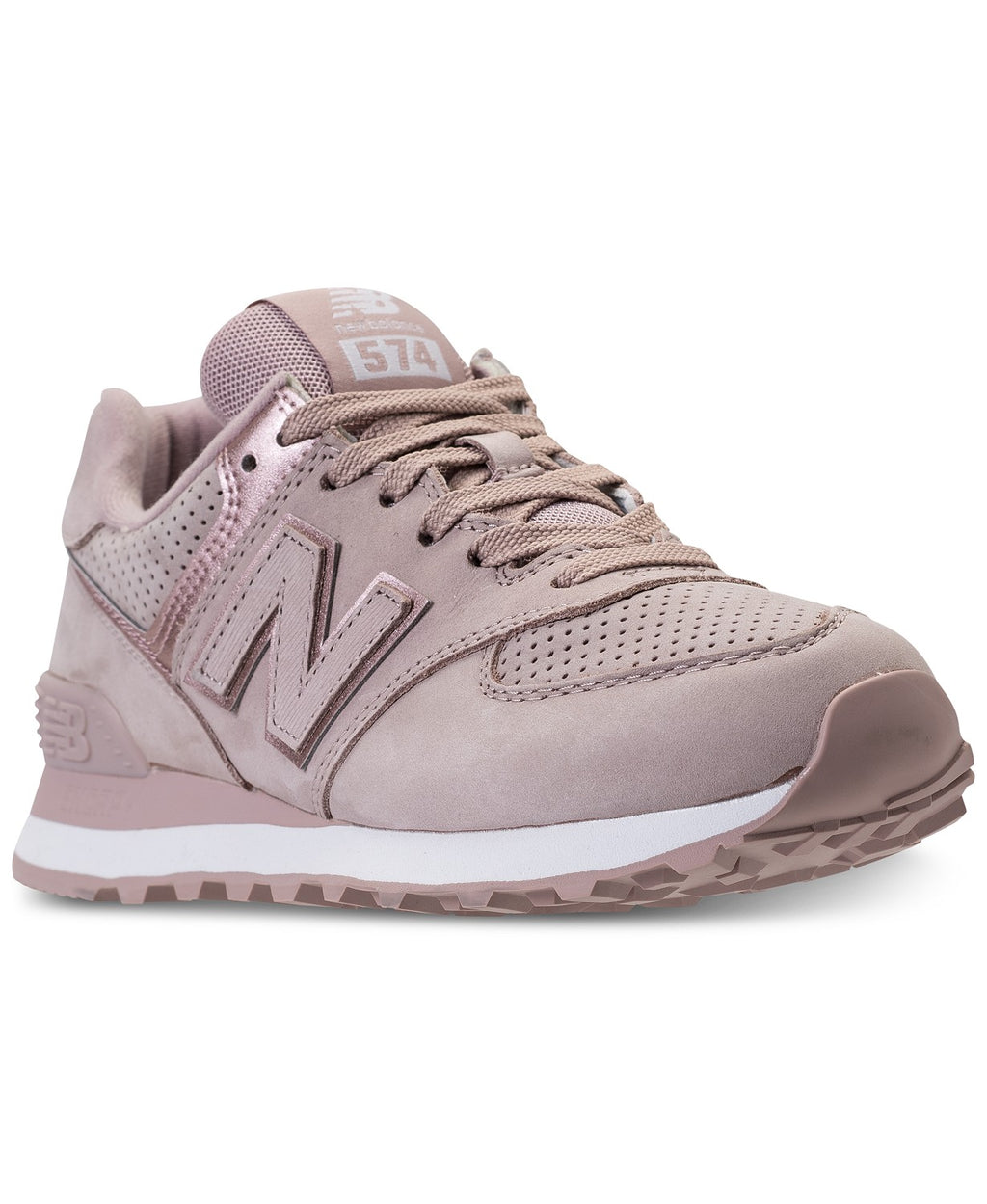 New Balance Women's 574 Rose Gold Sneakers
