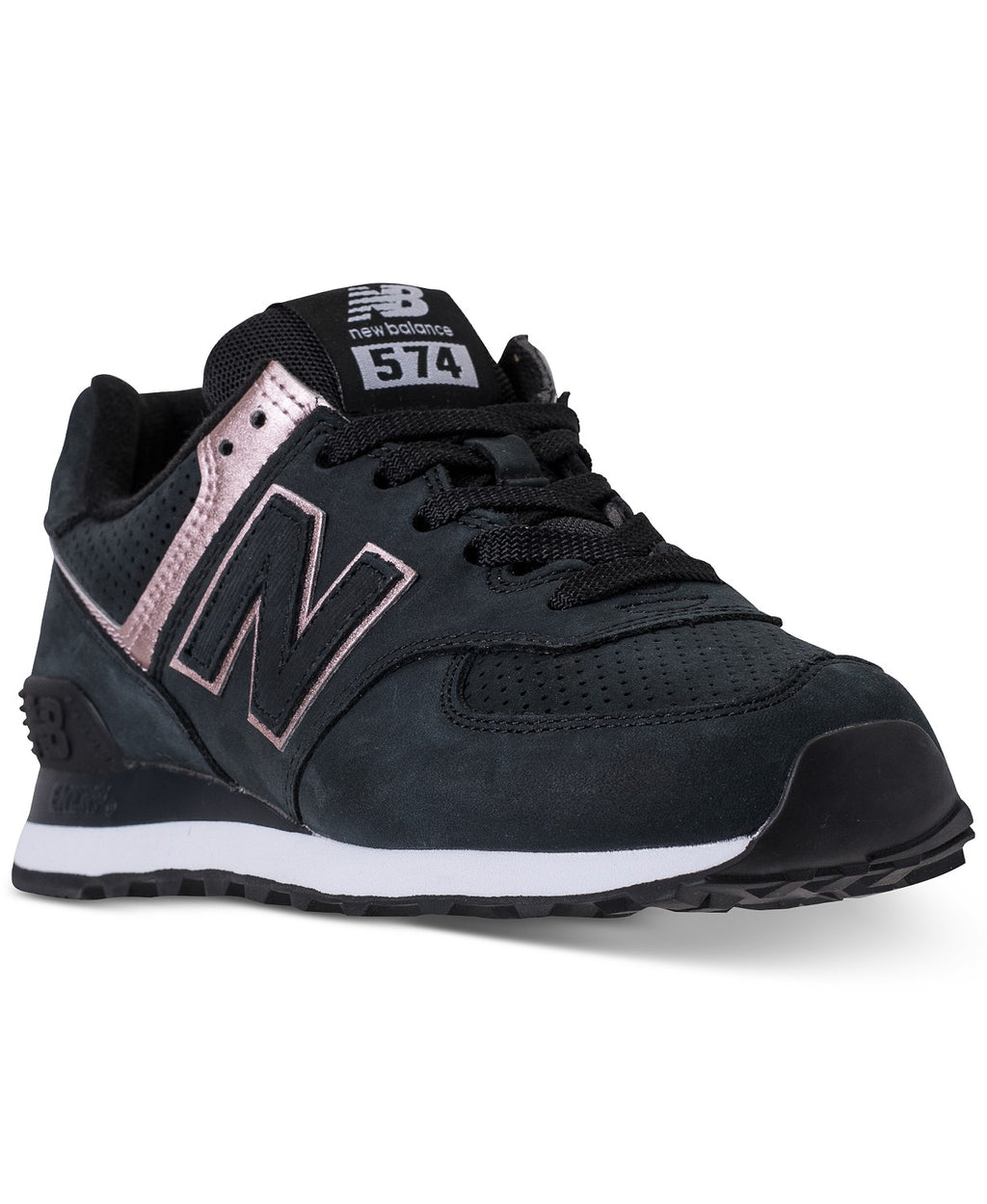 New Balance Women's 574 Rose Gold /black Sneakers