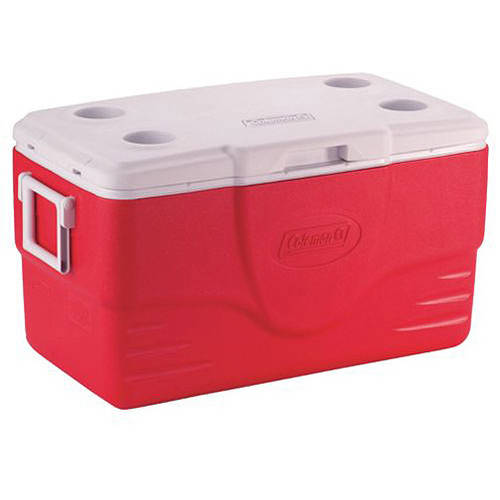 Coleman 50-Quart Cooler, Red