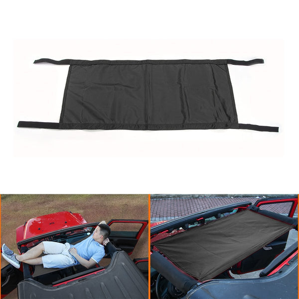 Roof Hammock for Jeep Wrangler &Wrangler Unlimited JK (Black)