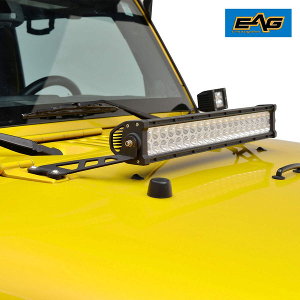 "07-17 Jeep JK Wrangler 20"" LED Light Bar Hood Mount"