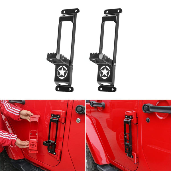 Metal Door Hinge Step Folding Foot Pedal Peg