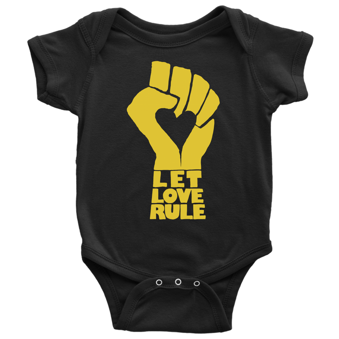 Let Love Rule Black Onesie