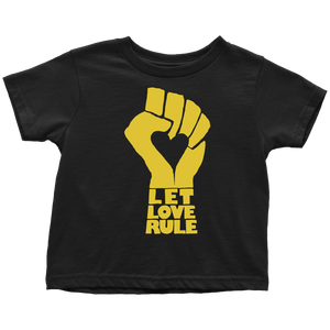 Let Love Rule Black Toddler Tee