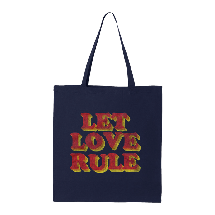 Let Love Rule Navy Tote