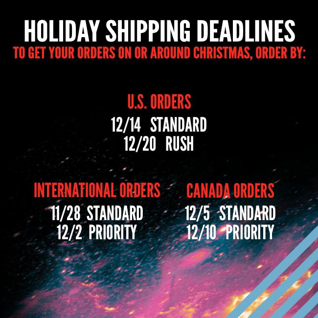 Shipping Deadlines for Lenny Kravitz Store