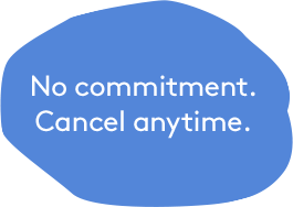No commitment. Cancel anytime.