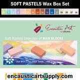 Encaustic Art SOFT PASTELS Wax Block Set - 16 Wax Blocks