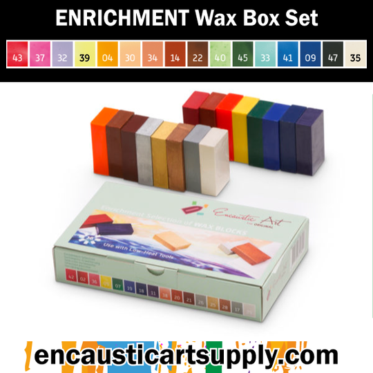 Encaustic Art Enrichment Selection of wax blocks