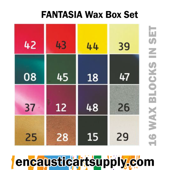 Encaustic Art Fantasia Selection of wax blocks