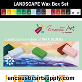 Encaustic Art Landscape Selection of wax blocks