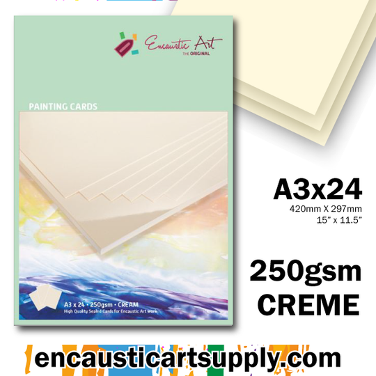Encaustic Art A3 Painting Cards - Cream
