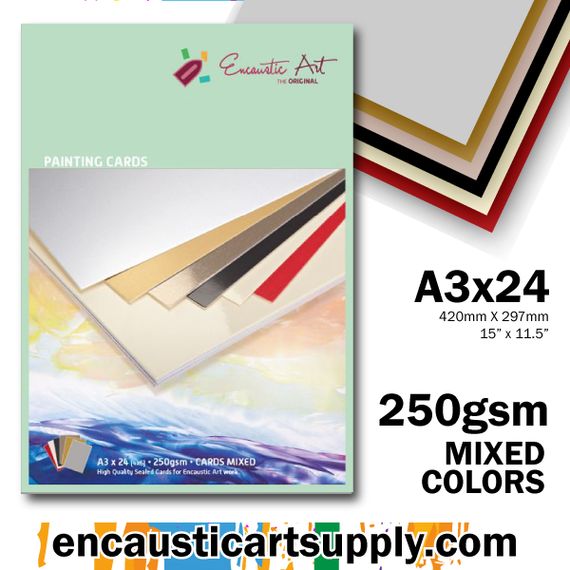 Encaustic Art A3 Painting Cards - Mixed Colors