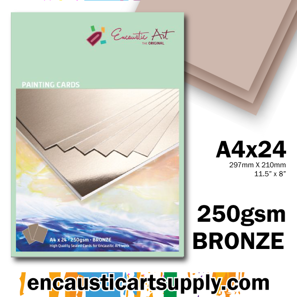 Encaustic Art A4 Painting Cards - Bronze