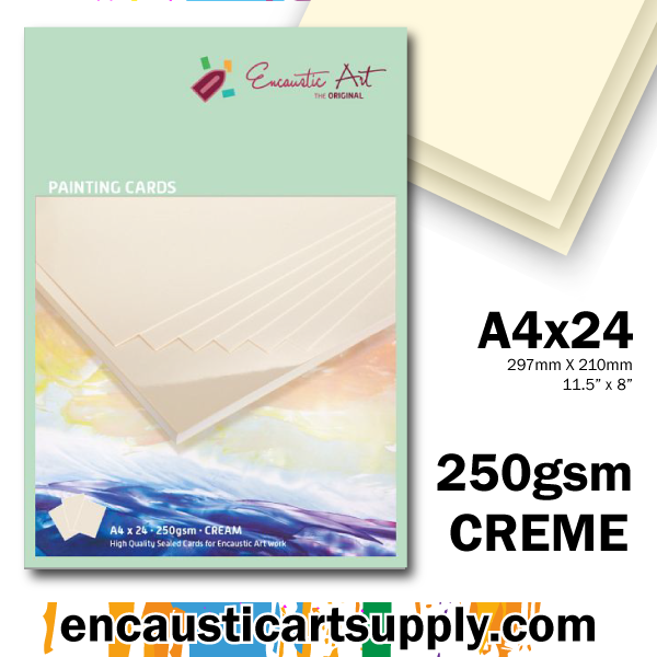 Encaustic Art A4 Painting Cards - Cream