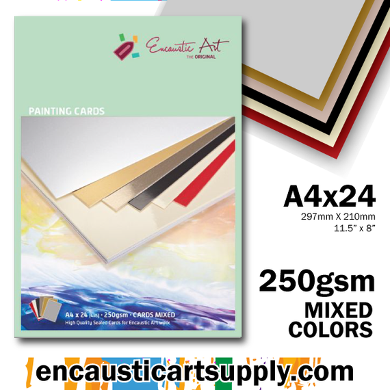 Encaustic Art A4 Painting Cards - Mixed Colors