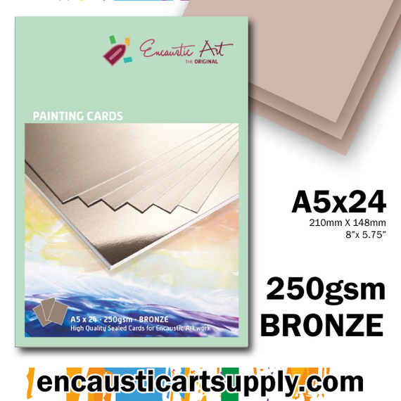 Encaustic Art A5 Painting Cards - Bronze