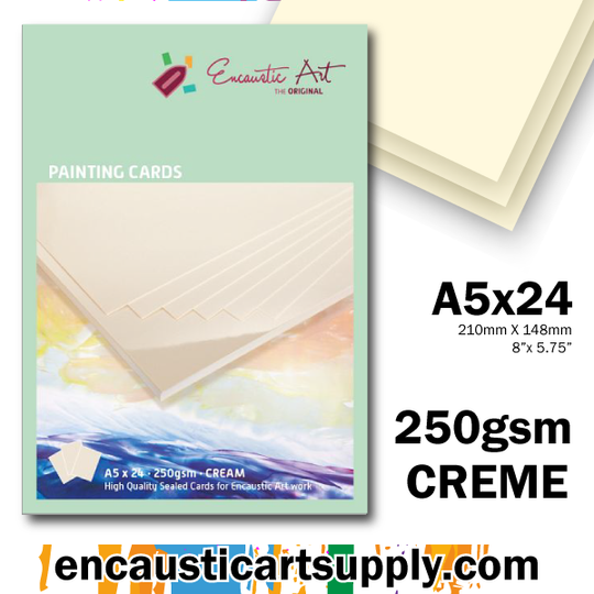 Encaustic Art A5 Painting Cards - Cream