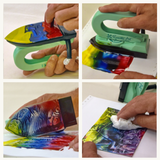 Encaustic Art Painting Iron