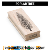 Encaustic Art Rubber Stamp - Poplar Tree