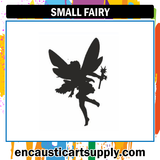 Encaustic Art Rubber Stamp - Small Fairy