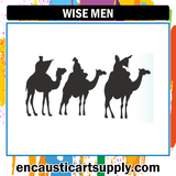 Encaustic Art Rubber Stamp - Wise Men