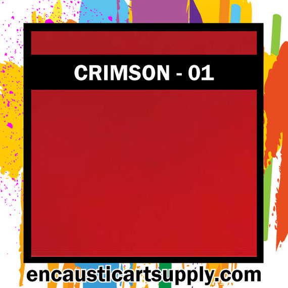 Encaustic Art Wax blocks 16 pcs - Crimson