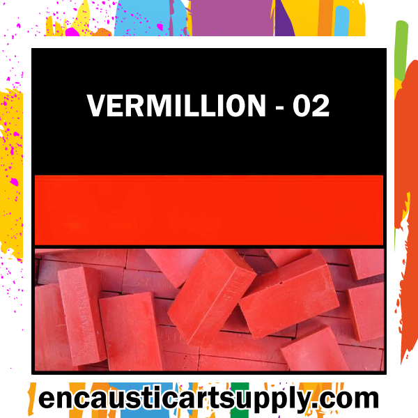 Encaustic Art Wax Blocks 16 pcs - Vermilion