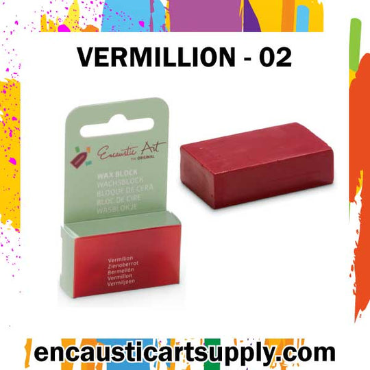 Encaustic Art Wax - Individual Boxed Block - Vermilion