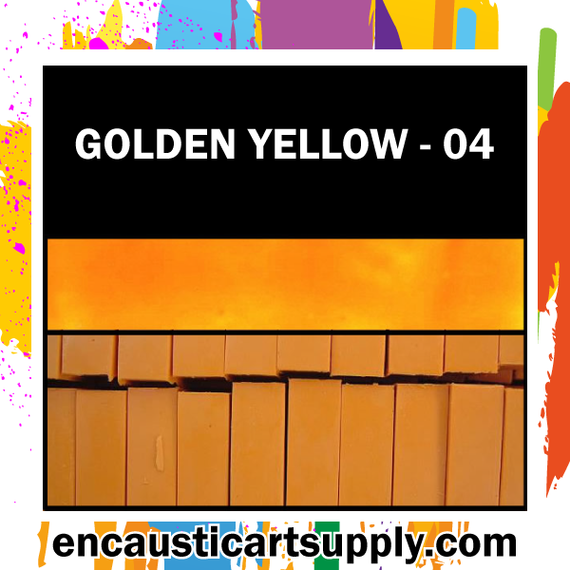 Encaustic Art Wax Blocks 16 pcs - Gold yellow