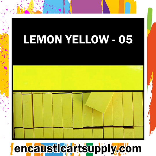Encaustic Art Wax Blocks 16 pcs - Lemon yellow