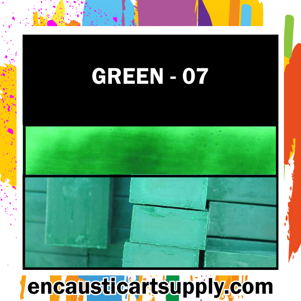 Encaustic Art Wax Blocks 16 pcs - Green