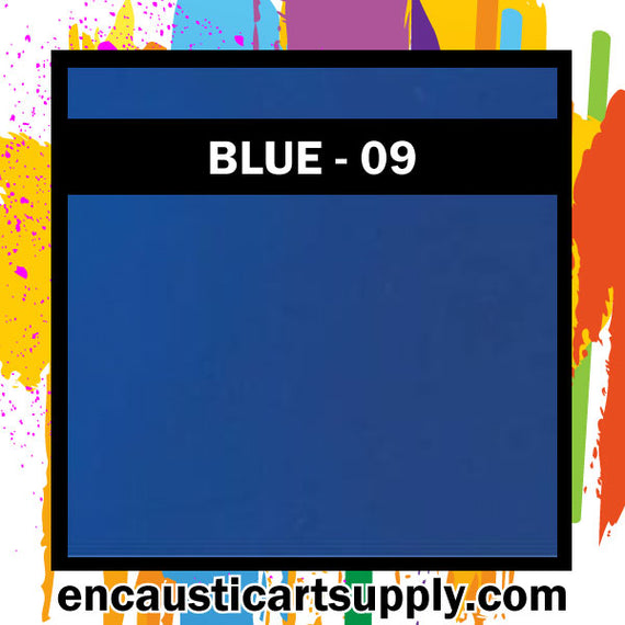 Encaustic Art Wax Blocks 16 pcs - Blue