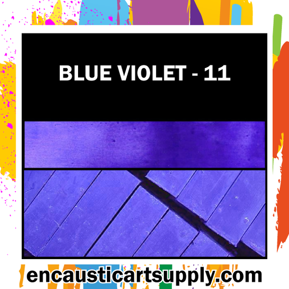 Encaustic Art Wax Blocks 16 pcs - Blue violet