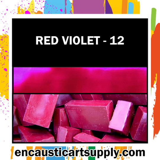 Encaustic Art Wax Blocks 16 pcs - Red violet