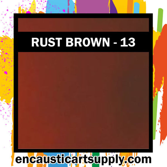 Encaustic Art Wax Blocks 16 pcs - Red brown