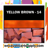 Encaustic Art Wax Blocks 16 pcs - Yellow brown