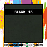 Encaustic Art Wax Blocks 16 pcs - Black
