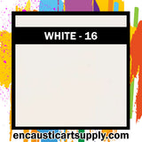 Encaustic Art Wax Blocks 16 pcs - White