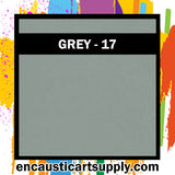 Encaustic Art Wax Blocks 16 pcs - Grey