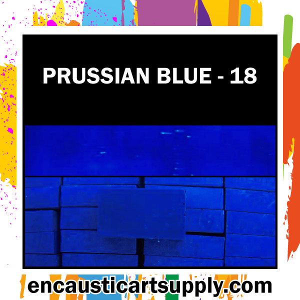 Encaustic Art Wax Blocks 16 pcs - Prussian blue