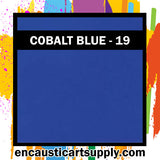 Encaustic Art Wax Blocks 16 pcs - Cobalt blue